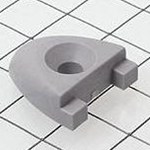 "Schaefer T Track End Stop, 1""x1/8""(25x3mm), Grey 74-35-G"