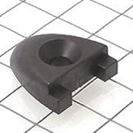 "Schaefer T Track End Stop, 1 1/2""x1/4""(38x6mm), Black 74-39"