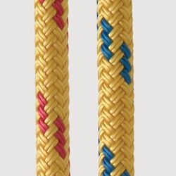 New England Ropes 7/16 Dingy Towline Yellow-fleck