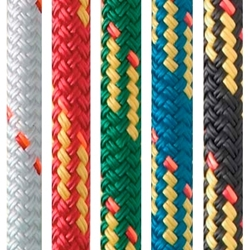 New England Ropes 8mm X 600 V-100 RED for running rigging on sailboats and yachts.